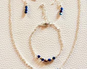 Set of thin, minimalist, Crystal beads
