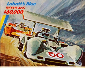Vintage Reproduction Racing Poster 1969 Mosport Can-Am