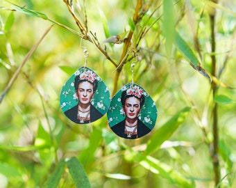 Frida Kahlo Earrings // Fashion Earrings // Statement Earrings