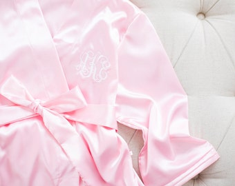 Bridesmaid Silk Robe