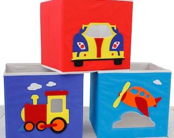 Kids Storage Organizer Bins Fabric Set