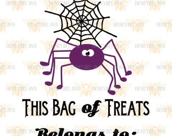 Spider Loot Bag svg Halloween bag svg Halloween Candy svg Candy bag svg Spider bag svg Spider svg Silhouette svg Cricut svg eps dxf