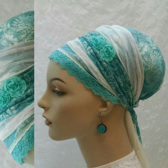 All lace exquisite sinar tichel, tichels, chemo scarves, head scarves, hair snoods, head wraps