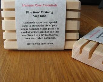 Soap Saver - Soap Dish - All Natural Pine Wood