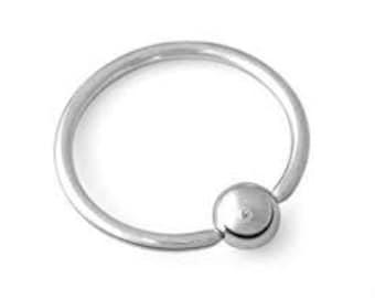 16g 1/4 inch diameter captive bead nose ring