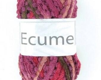 wool knitting fashion scarf foam Mulberry No. 002 white horse