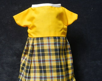 Rag Doll Dress - Yellow Plaid