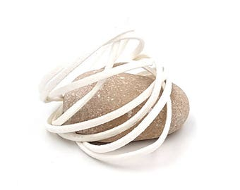10 m white 3x1.5mm flat suede cord