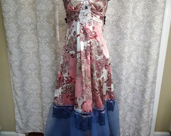 Unique Pink Paisley Formal Dress