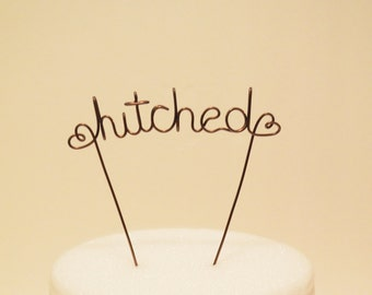 Custom Hitched Wire Wedding Cake Topper, Cake Topper, Wire Cake Topper, Custom Cake Topper, Wedding Cake Topper, Rustic Cake Topper