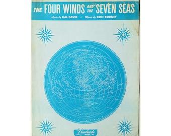 Four Winds Seven Seas Original Sheet Music 1949 Piano Vocal Sammy Kay Hal David