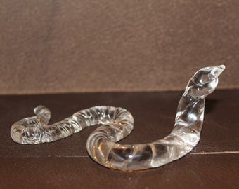 Vintage Mouth Blown Textured Glass Snake
