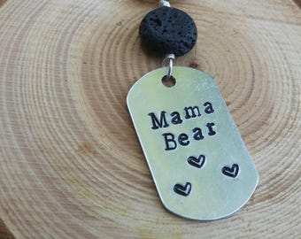 Mama bear diffuser keychain