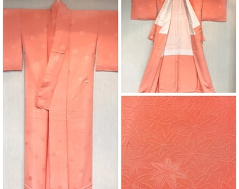 Iromuji Kimono in Salmon Pink with One mon