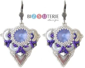 Nerina earrings - instant download beading pattern