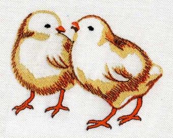 Vibrant Chicks Digital Embroidery Design