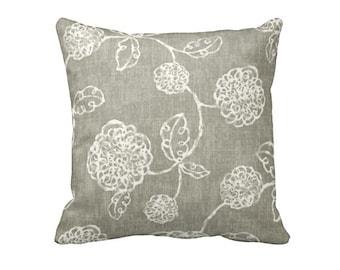 Euro Pillow Decorative Pillow Throw Pillow One 24x24 Pillow Cover Floral Pillow Taupe Pillow Grey Pillow Gray Pillow Brown Pillow