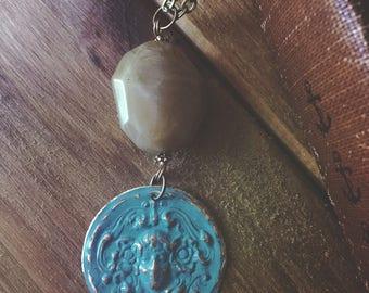 Vidrigris Patina Emblem Necklace