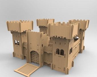 Big Castle - cnc laser cutting file / Vector model for laser cut