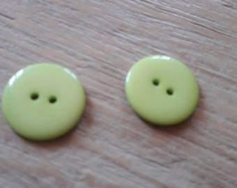 Déstocke * set of 4 buttons green bright sewing, scrApbooking, jewelry