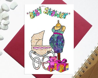 Baby shower card boy girl - Mum to be card - Having a baby - New mum card - New baby - Baby shower card - New mom card - Baby arrival card -