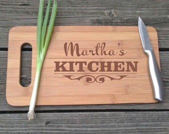 Personalized Cutting Board -  Engraved BAMBOO Cutting Board 14 X 7.5 Custom Gift For Mom Gift For Nana Gift For Grandma Gift For Cook