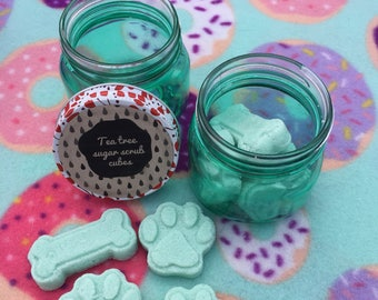 Tea tree sugar scrub cubes