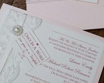 Fairytale | Luxury Lace | Embellishment |  Flat | Wedding/Evening Invitation