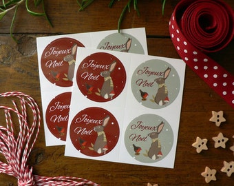 Set of 8 Christmas Stickers