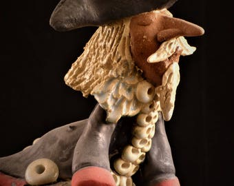 Baron von Münchhausen Barone di  Münchhausen fischietto clay whistle