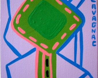 GO SIGN - original painting - green lantern 2994