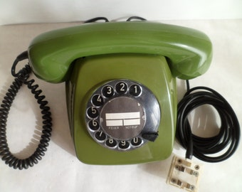 """Vintage 1978 Rotary Dial Desk Telephone """"DFG"""". Made in 1978."""