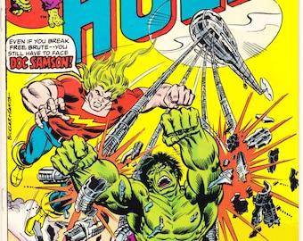 The Incredible Hulk 199 comic, Doc Samson, Bronze Age book, Herb Trimpe art. 1976 Marvel Comics in VF+ (8.5)