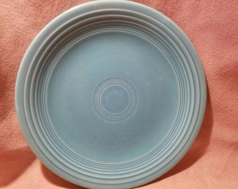 """HLC Fiesta Turquoise Salad Plate 7 3/8"""" ~ Older / 1940's"""