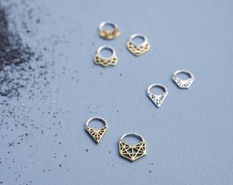 Geometric Septum rings - various