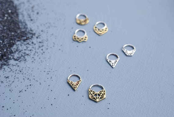 Geometric Septum rings - various