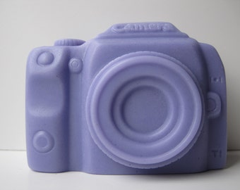homemade scented glycerin soap, miniature, camera