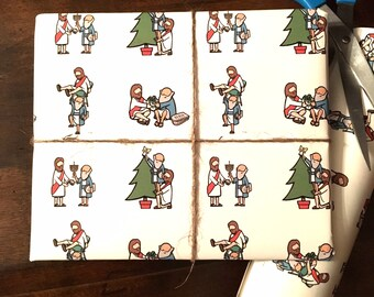 Hanukkah Gift Wrap/Wrapping Paper/JC & Mo/High Quality/Funny/High End/Wrapping Paper for Hanukkah/Jewish Friend/Jewish Relative