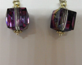 Beautiful Austian Crystal Cube Earrings
