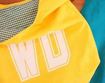 WD netball bib bag reversible - unique netball team gift, gift for mum or bridesmaid - sport bag, bookbag, shopping bag – custom available