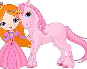 Princess Unicorn Edible Frosting Sheet Birthday Cake Cupcake Topper Baking Supplies Jenuine Crafts