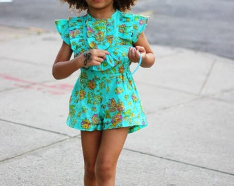 Green Kids Summer Dress