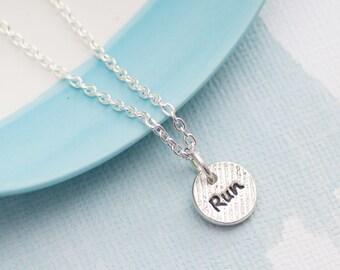 Runners Necklace - gift for runner, running jewellery, Run Necklace, Running Motivational jewellery