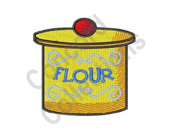 Flour Canister - Machine Embroidery Design
