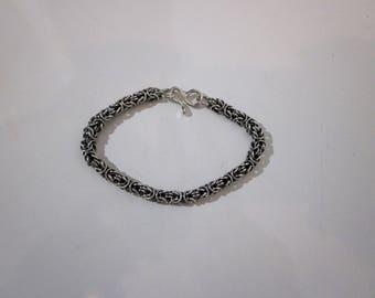 Bella's Oxidized Byzantine Bracelet