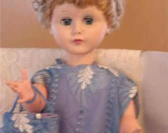 Vintage Doll SEmco Co. 1964 Original Evening Dress andd Purse