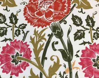 Floral Cotton Print Upholstery Fabric