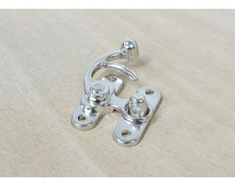 """1 1/4"""" NICKEL Plated Lock Purse Fastener Latch Renaissance Hardware - 53232"""