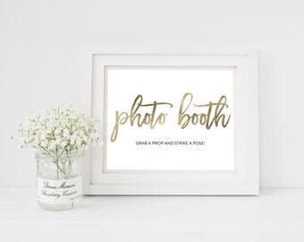 Wedding Sign Template | Photo Booth Sign | Wedding Sign | Printable Wedding Sign | 5x7 & 8x10 | EDN 5450