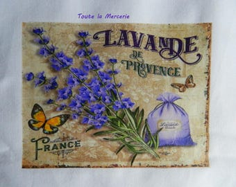 transfer 114.   OUR beautiful PROVENCE Lavender label transfer